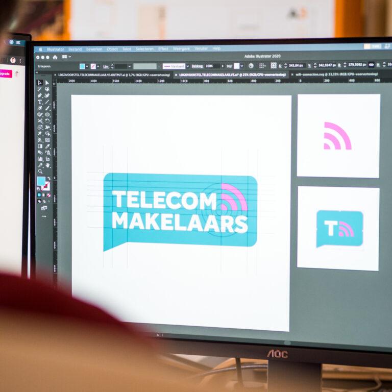 logo Telecom makelaars computer Illustrator