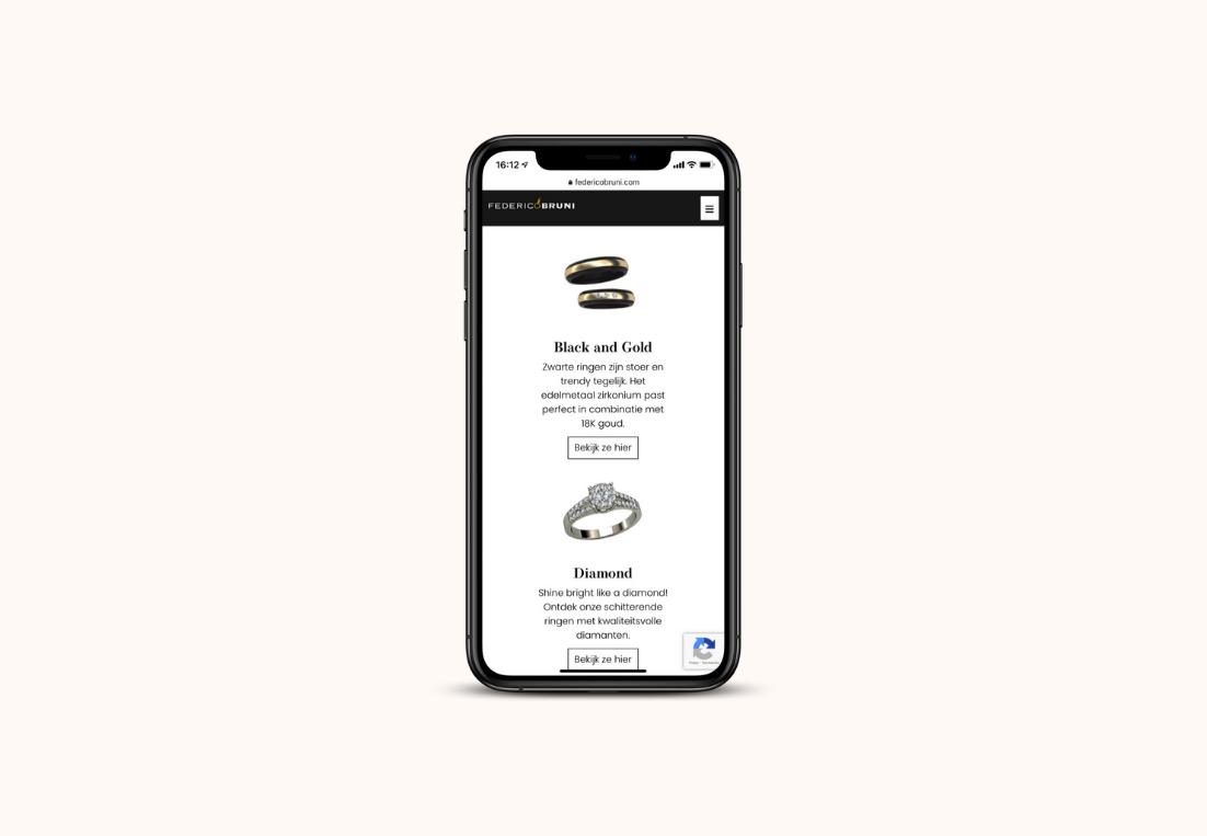 Mobiele website Federico Bruni