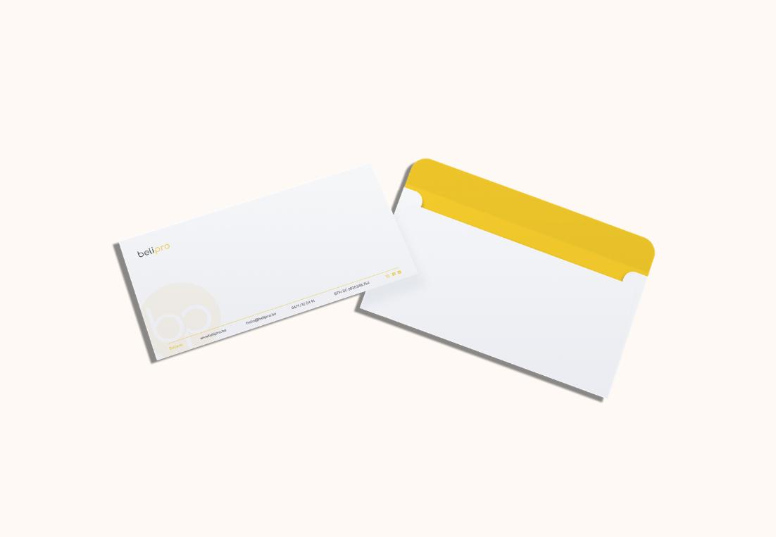 Ontwerp enveloppes Belipro