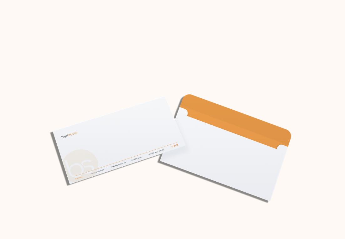 Ontwerp enveloppes Belistate