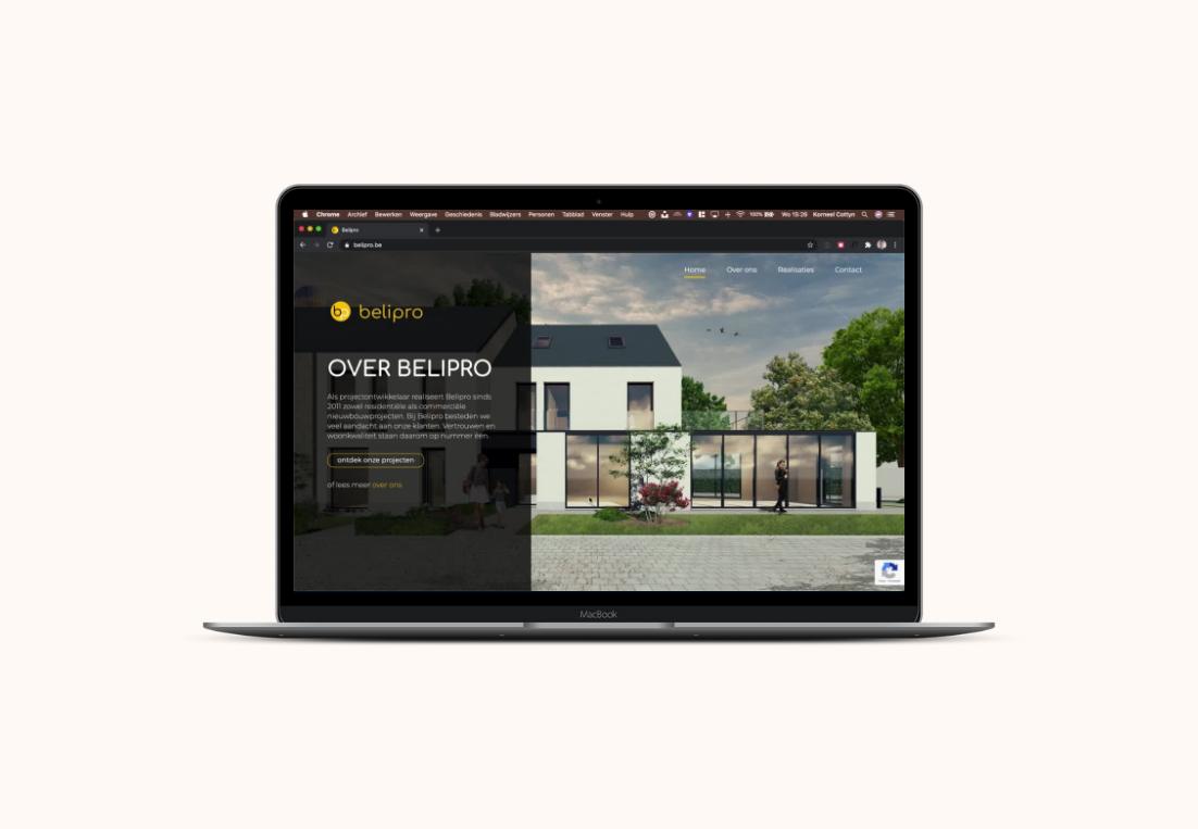 Website Belipro laptop view