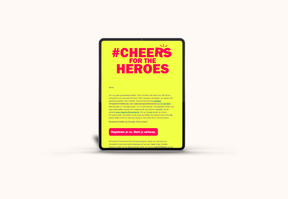 Website Cheers For The Heroes
