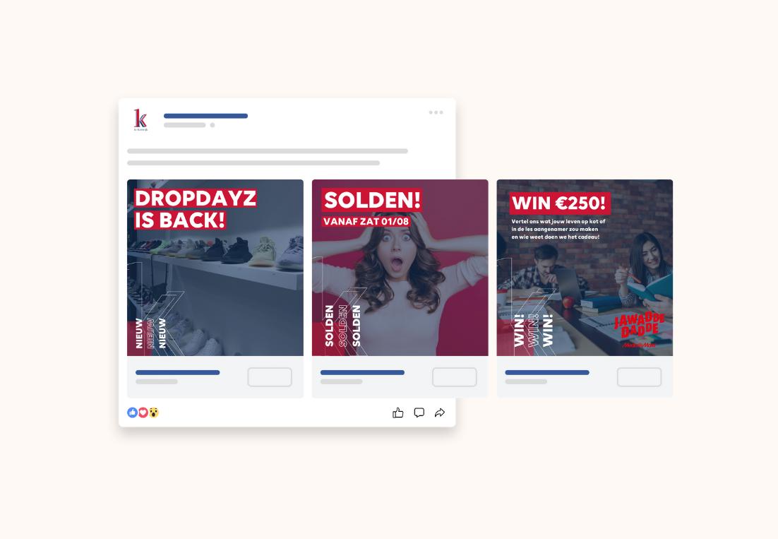 Social Media ontwerp K in Kortrijk