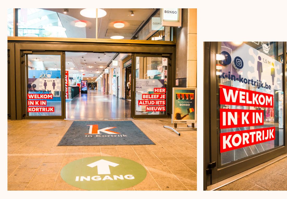 bestickering deuren K in Kortrijk