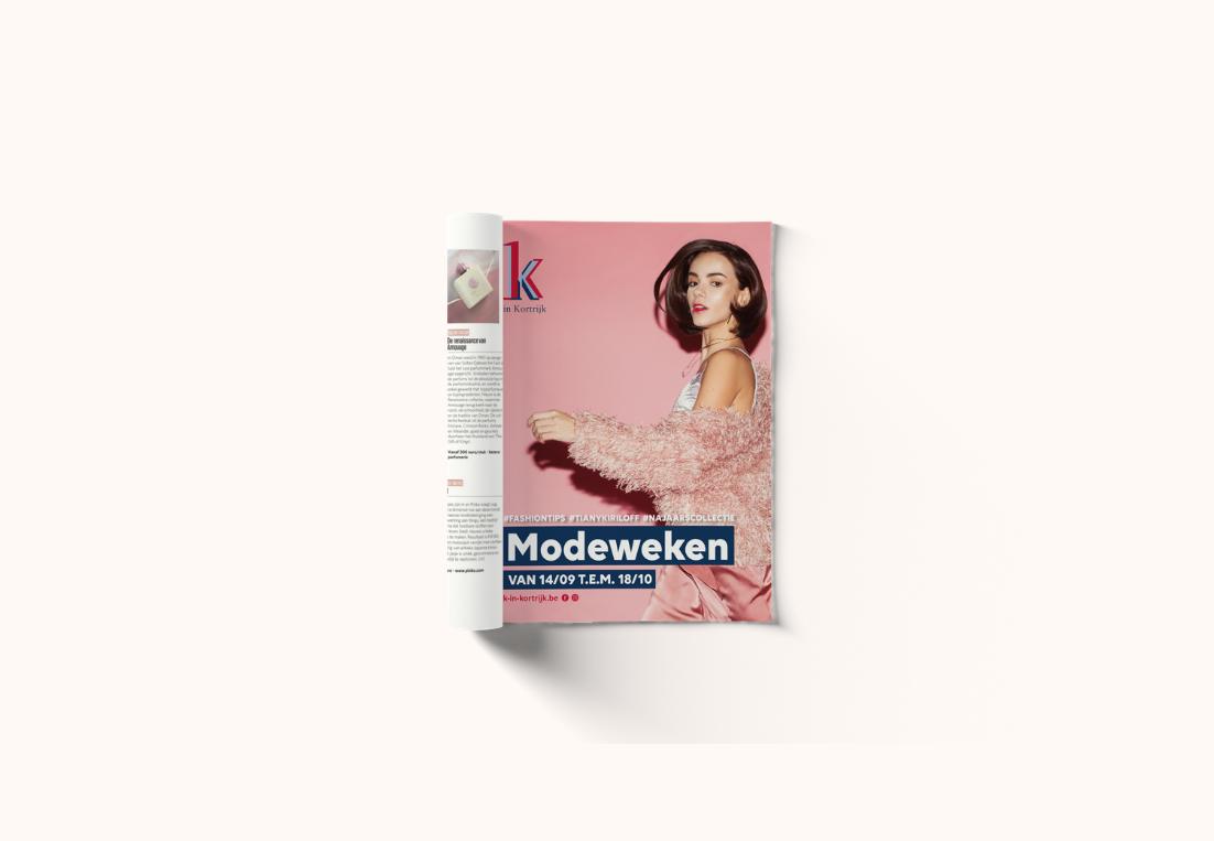 Advertentie modeweken K in Kortrijk