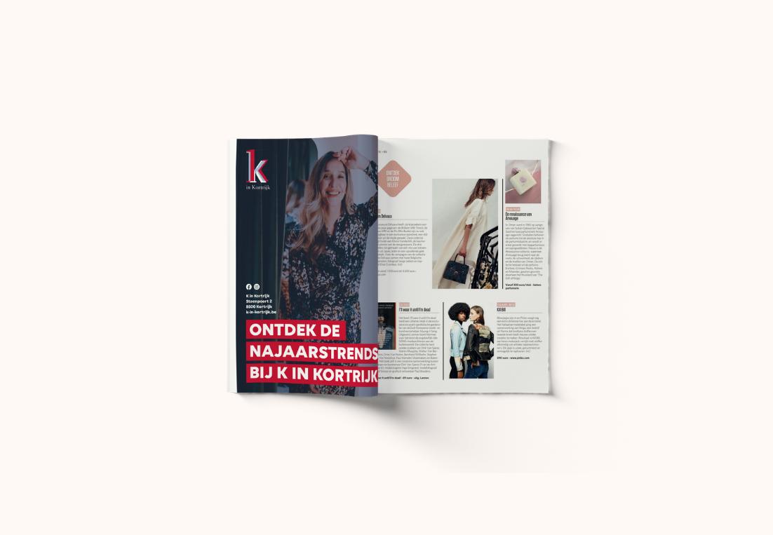 Advertentie najaarstrends K in Kortrijk
