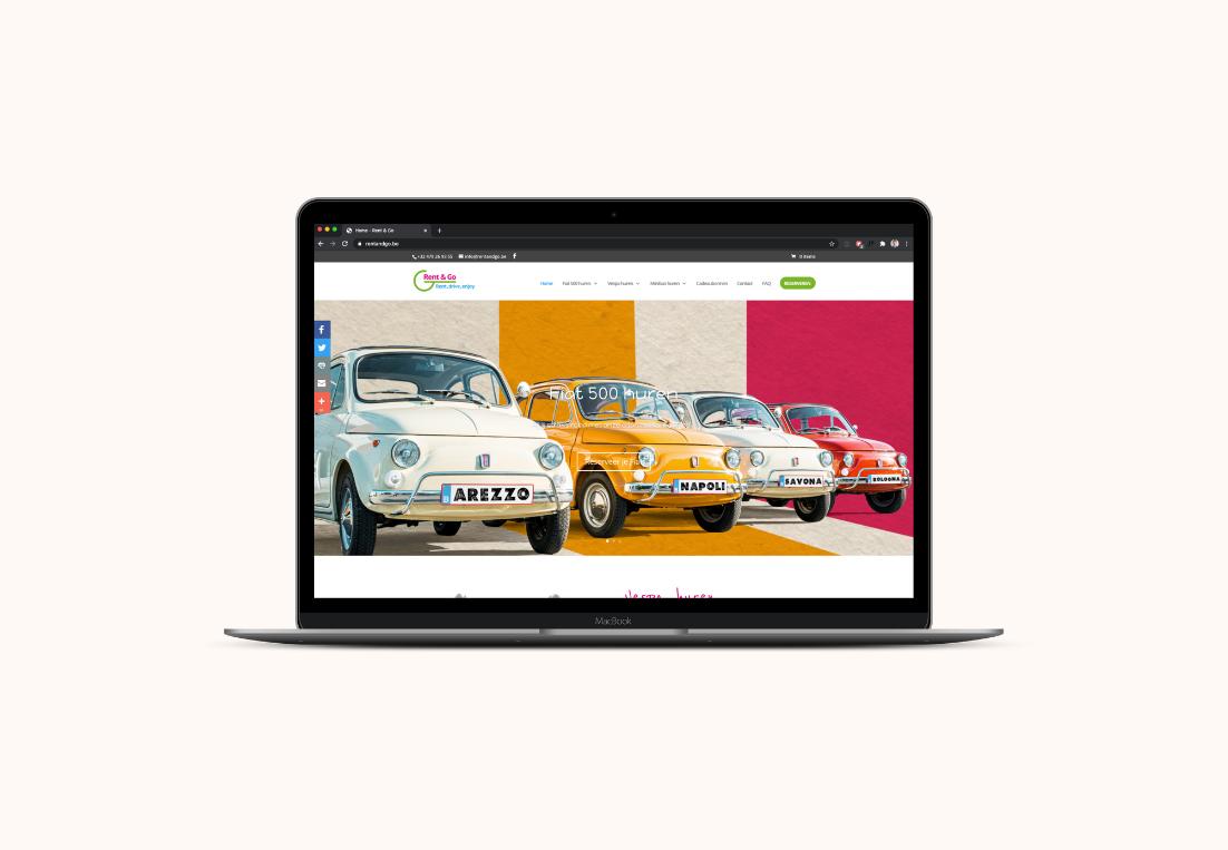 Homepagina website Rent & Go