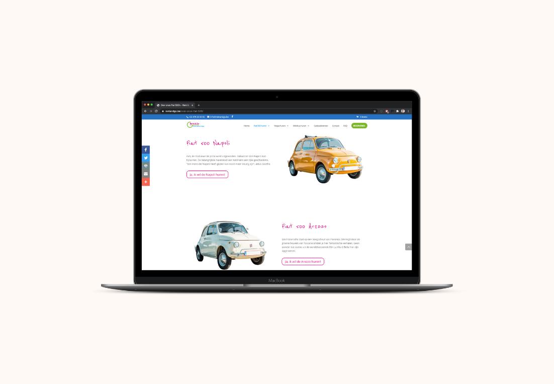 Website mockup Rent & Go