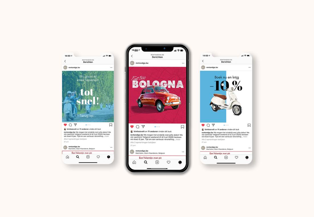 Social media mockup Rent & Go