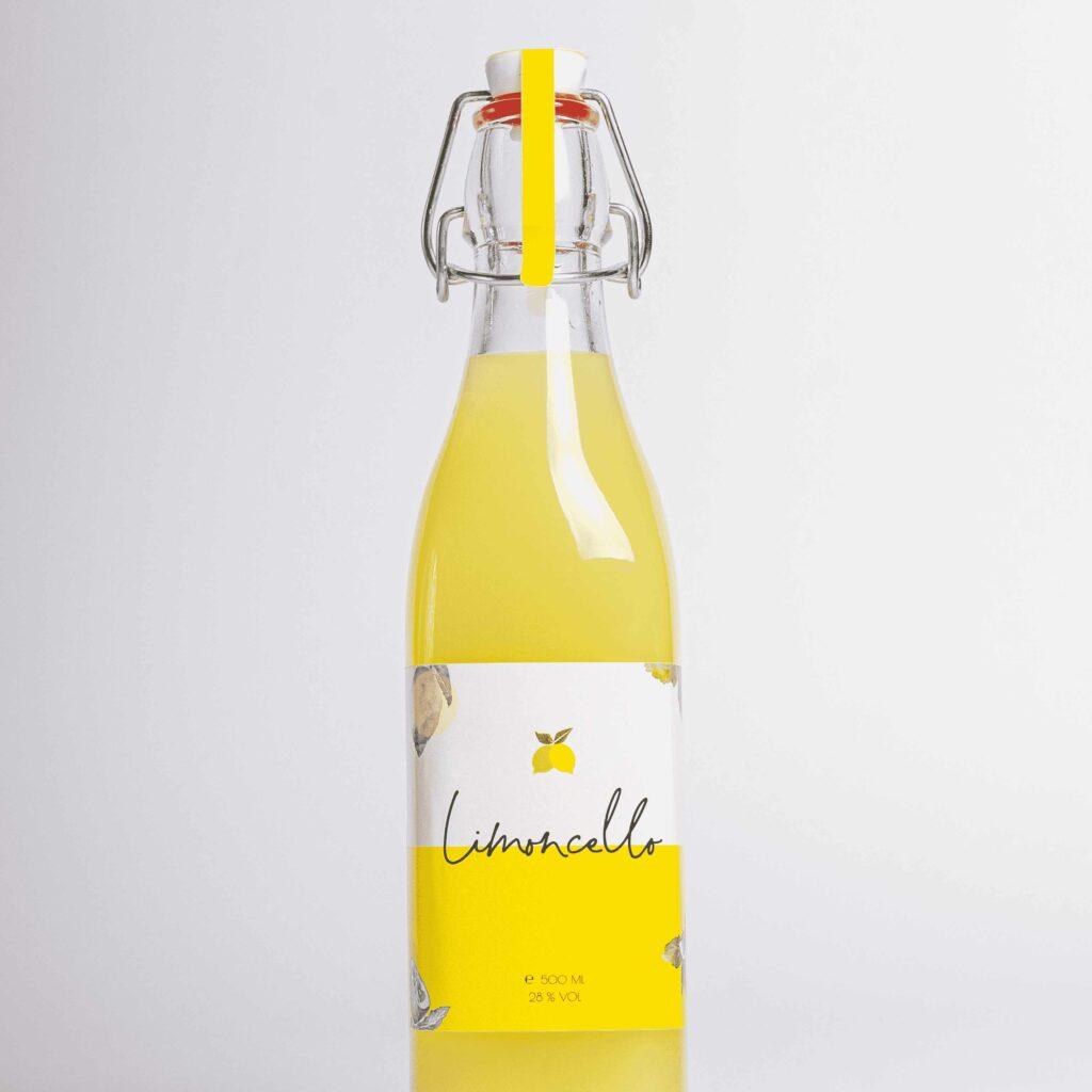 Limoncello fles geel