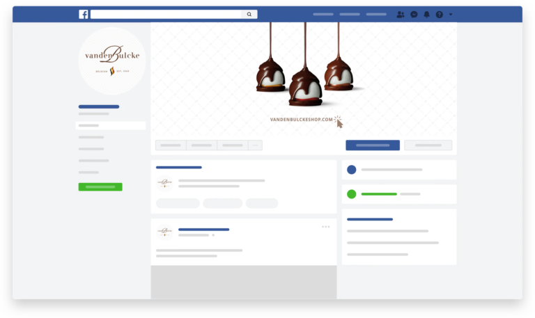 facebookpagina Vandenbulcke Chocolatier