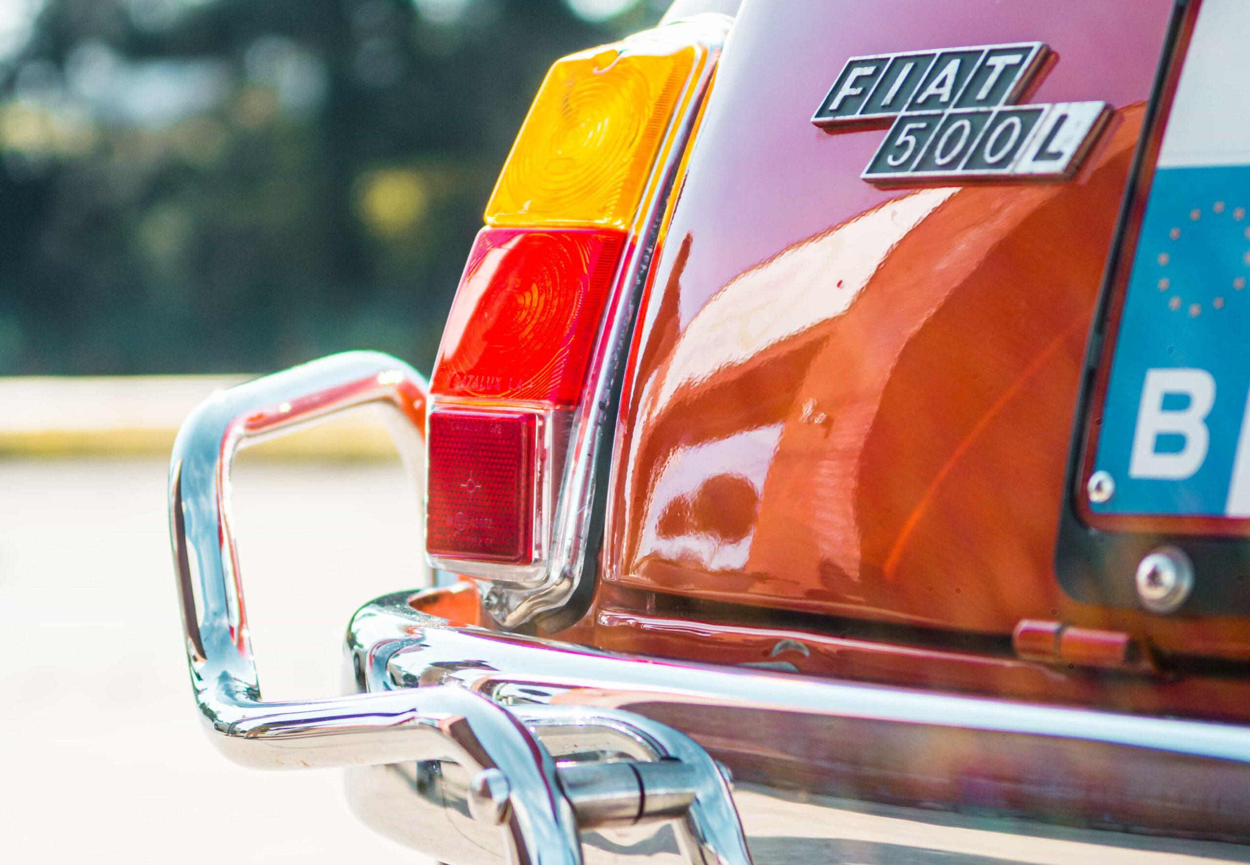 Fiat 500 achterlicht detail