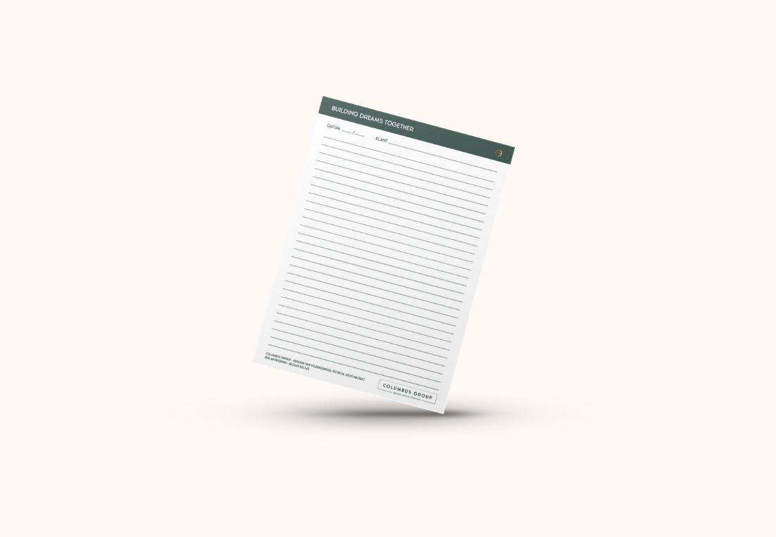 Columbus Group notitieblok lijntjes