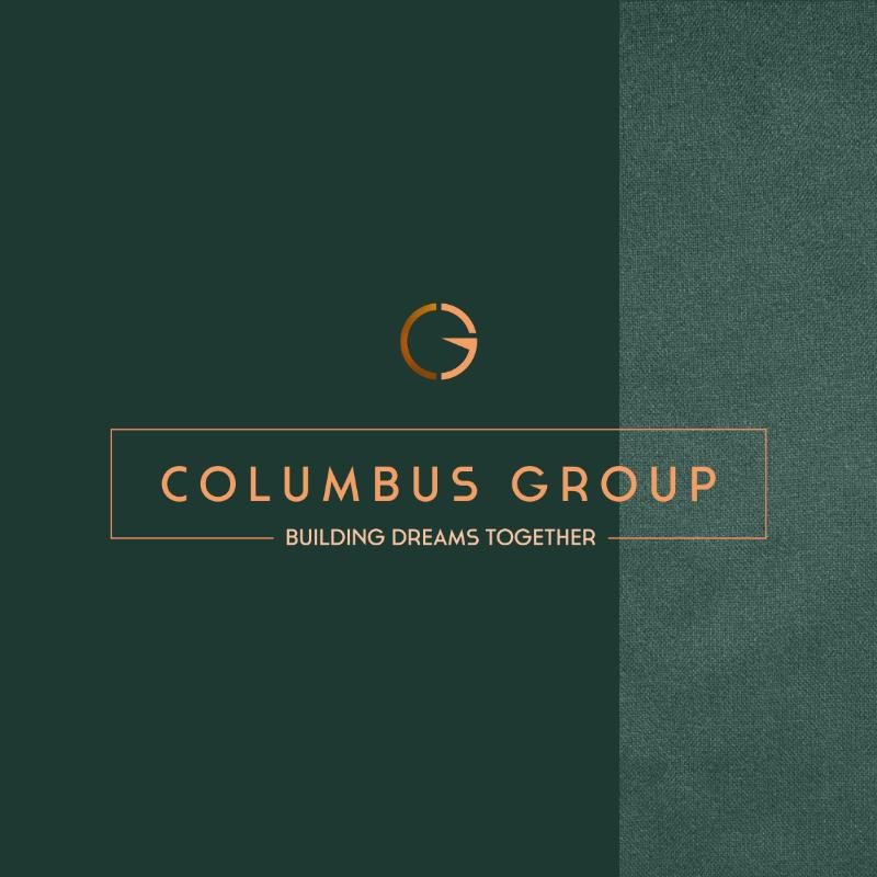 Columbus Group logo tekst achtergrond
