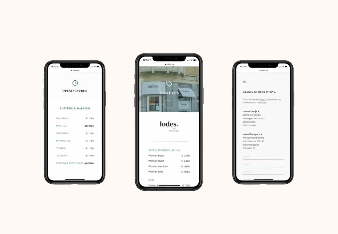 lodes website view smartphone