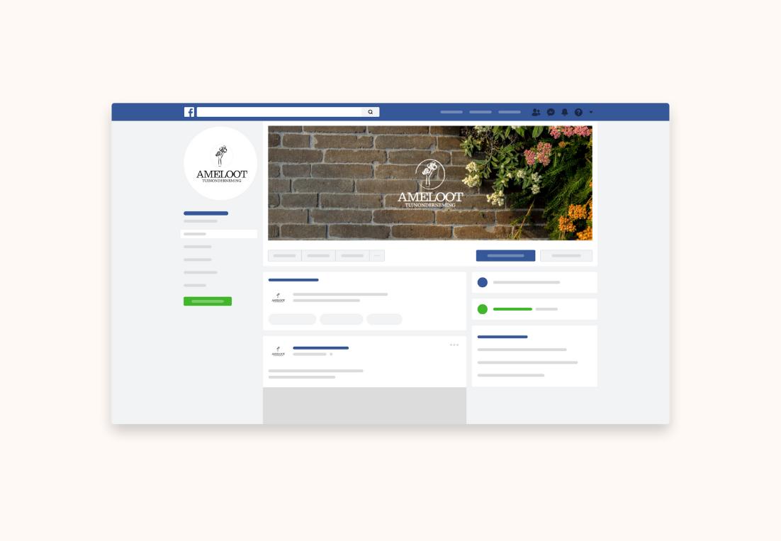 Tuinonderneming Ameloot Facebook optimalisering