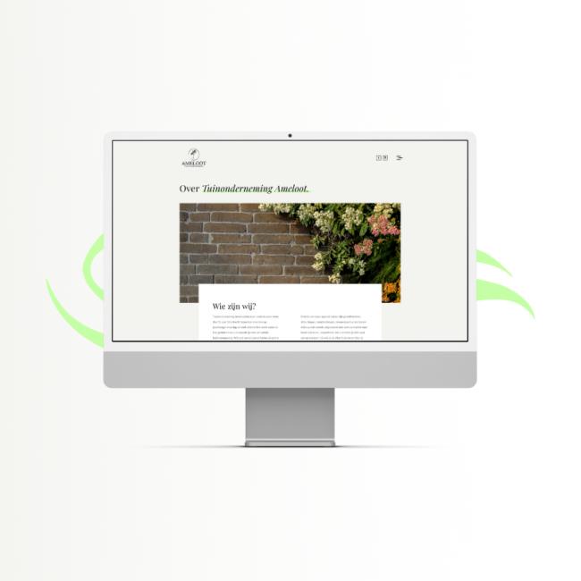 Tuinonderneming Ameloot website
